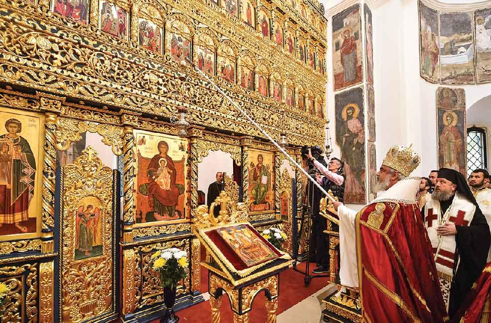Patriarhul României a sfinţit noua catapeteasmă a bisericii Palatului Cotroceni