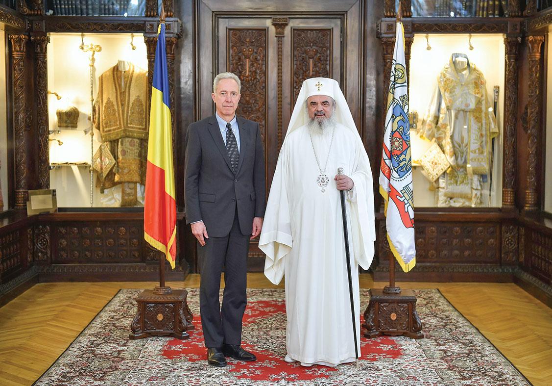 Ambasadorul Statelor Unite ale Americii la București, în vizită de prezentare la Patriarhia Română