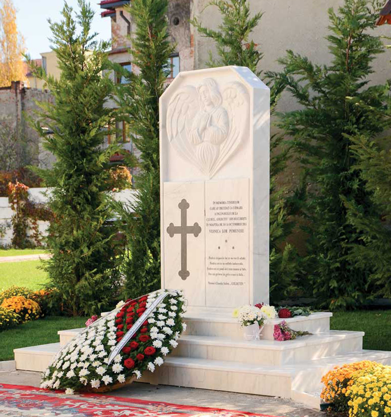 Monumente funerare ridicate în memoria victimelor