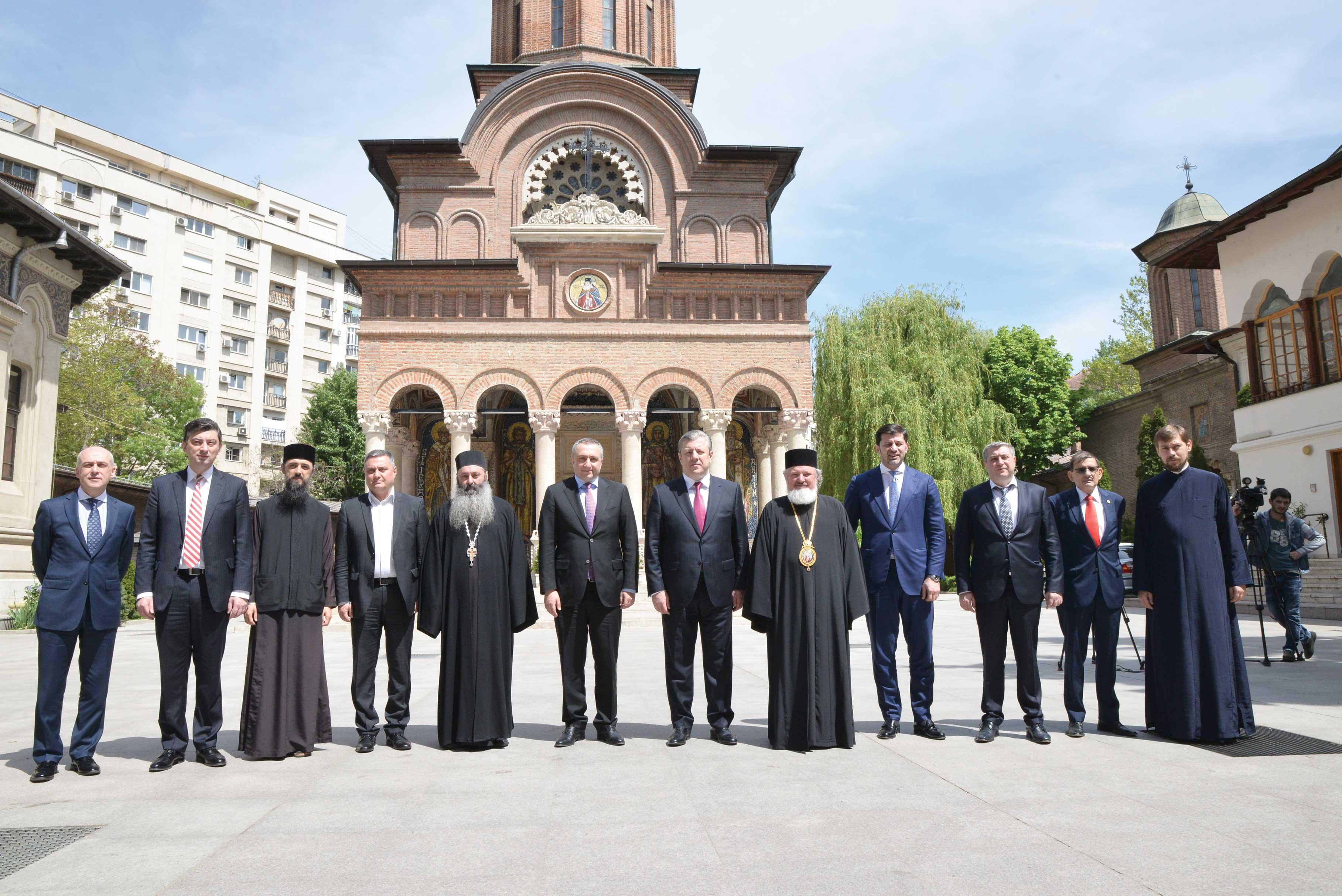 Prim-ministrul Georgiei la Mănăstirea Antim