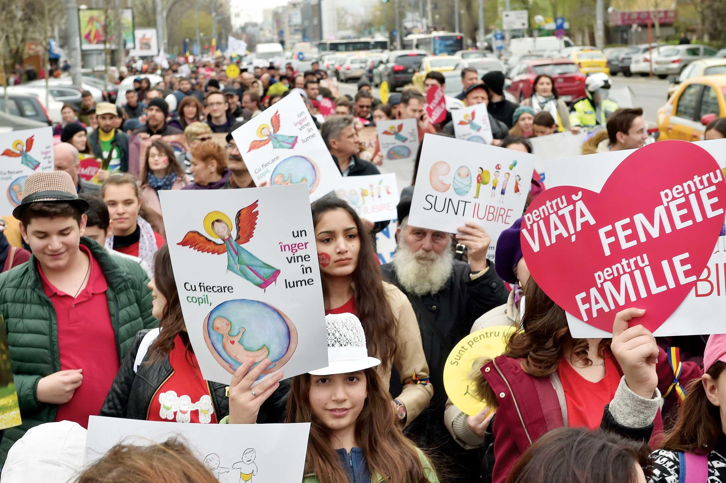 Marșul pentru viață în București