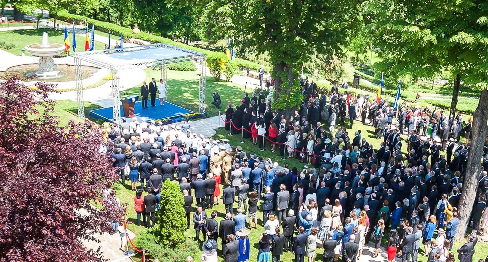 Recepție oficială la Palatul Cotroceni cu prilejul Zilei Europei