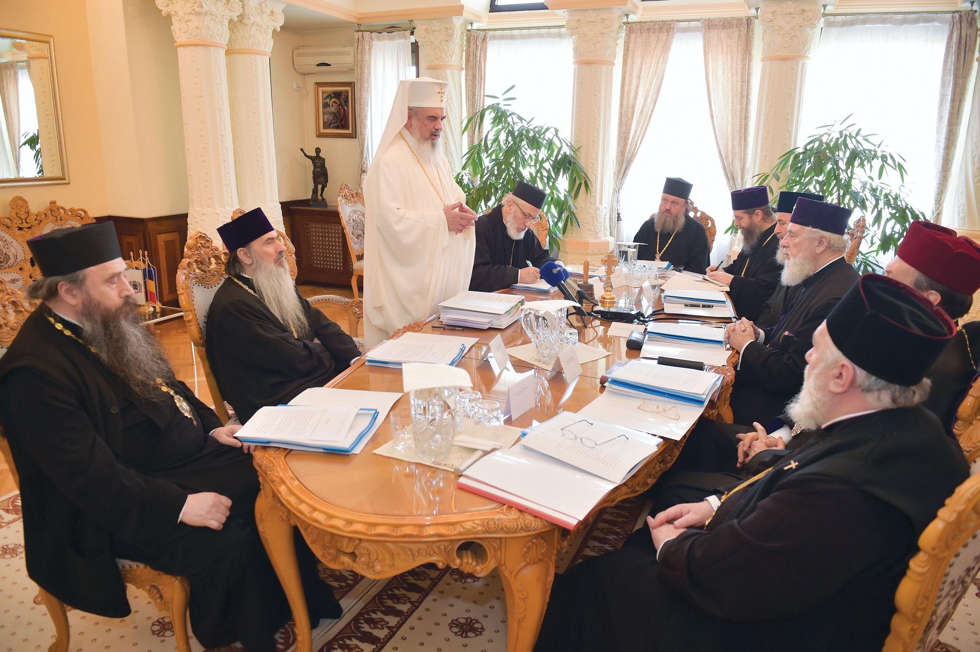 Ședință de lucru a Sinodului mitropolitan al Mitropoliei Munteniei și Dobrogei
