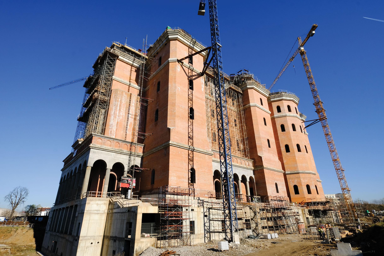 Lucrările continuă la șantierul Catedralei Naționale