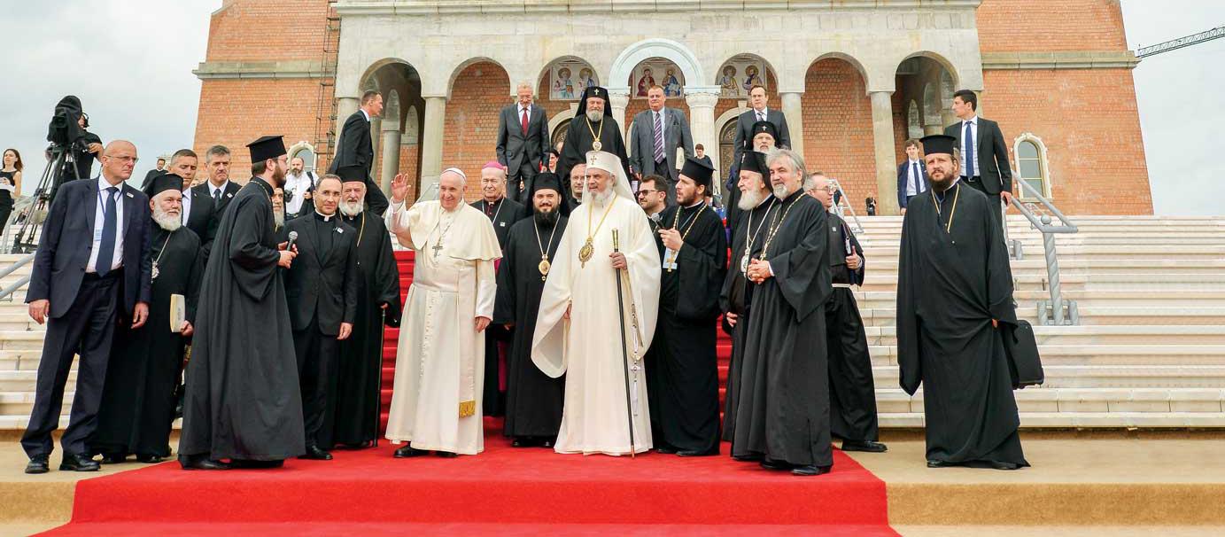 Vizita Sanctităţii Sale Papa Francisc la Patriarhia Română