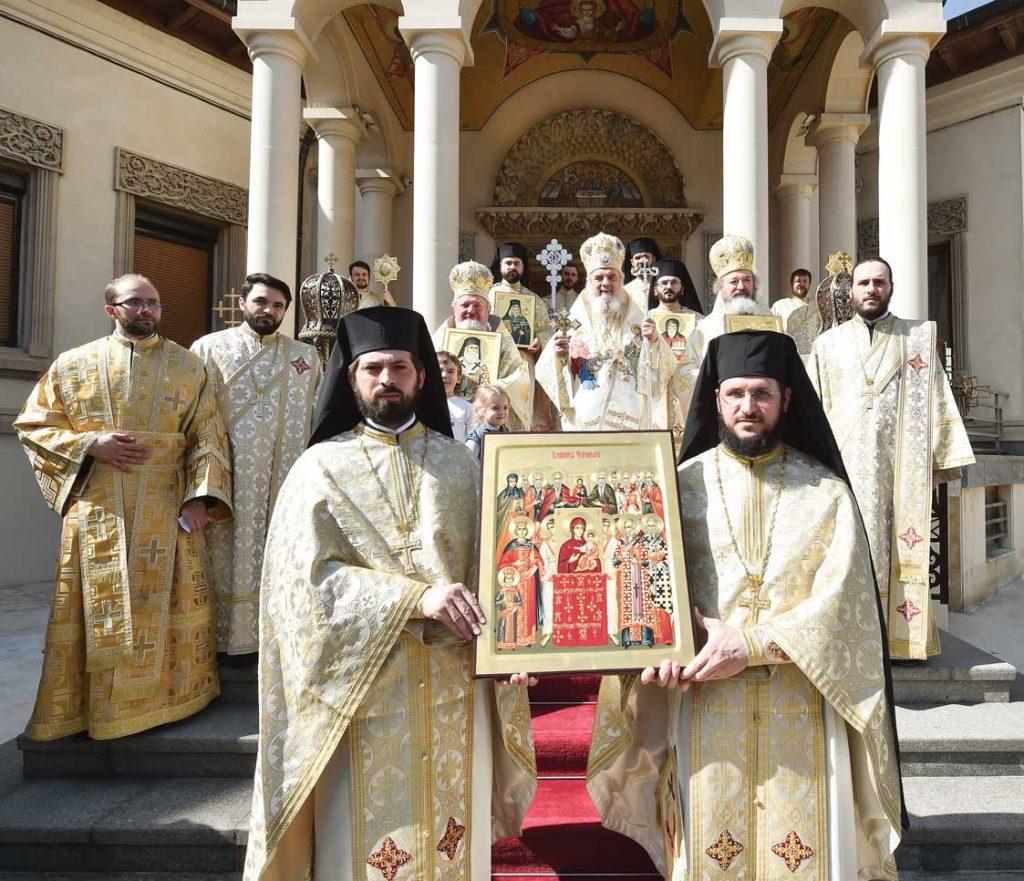 Preafericitul Părinte Patriarh Daniel la finalul Sfintei Liturghii, Reședința Patriarhală, duminică, 17 martie