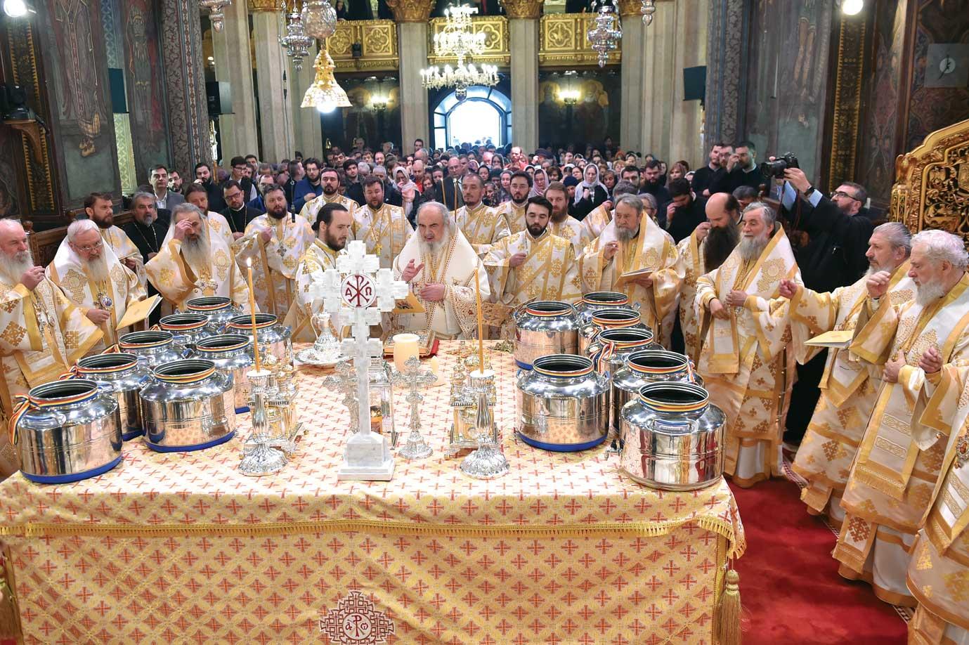 Sfințirea Marelui Mir în Catedrala Patriarhală