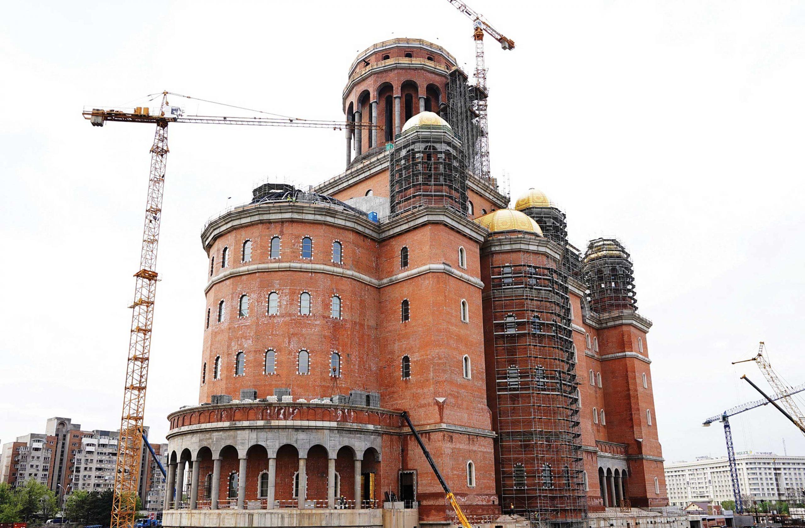 Progrese importante pe șantierul Catedralei Naționale