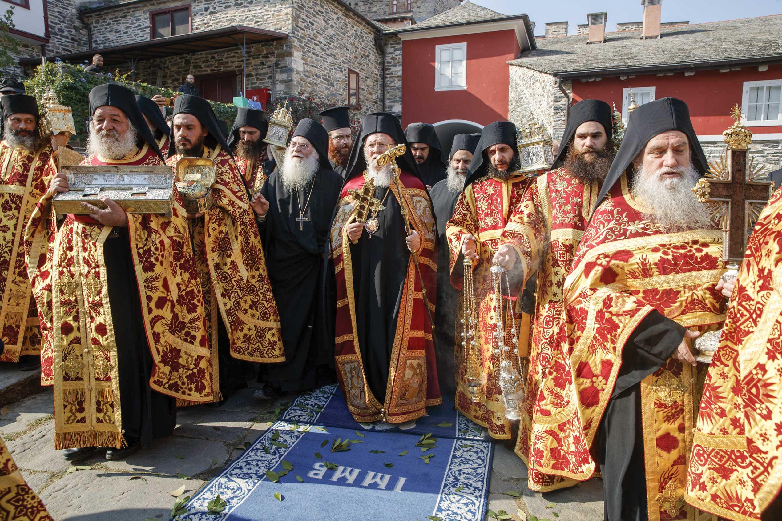 Patriarhul Ecumenic Bartolomeu, în Sfântul Munte Athos