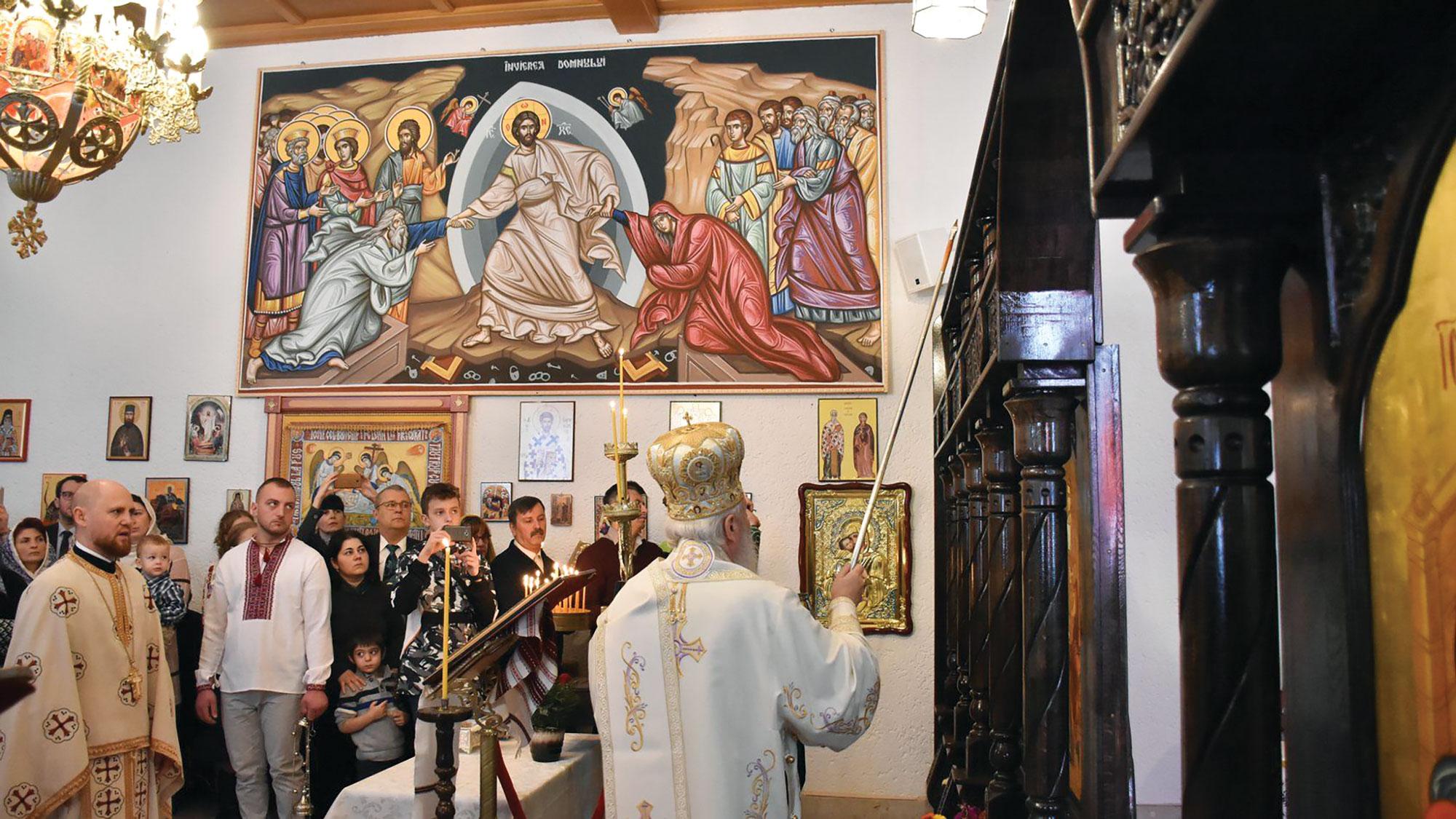 Binecuvântare în parohia românească din Passau-Vilshofen, Germania