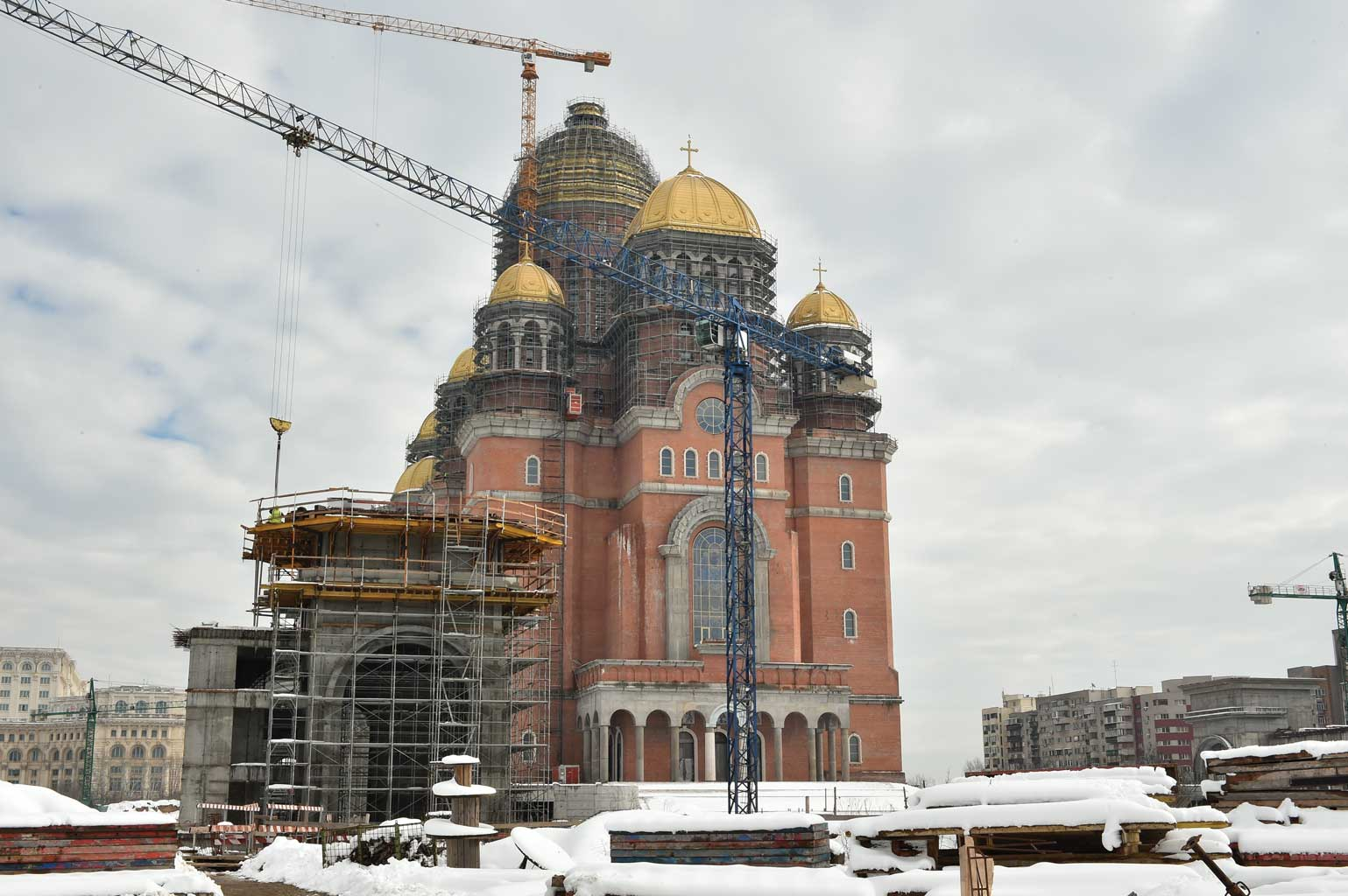 Stadiul lucrărilor pe șantierul Catedralei Naționale