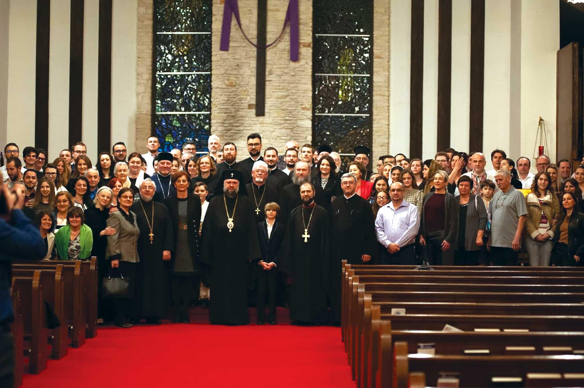 """Binecuvântarea  bisericii Parohiei """"Nașterea Maicii Domnului"""" din Austin, Texas"""