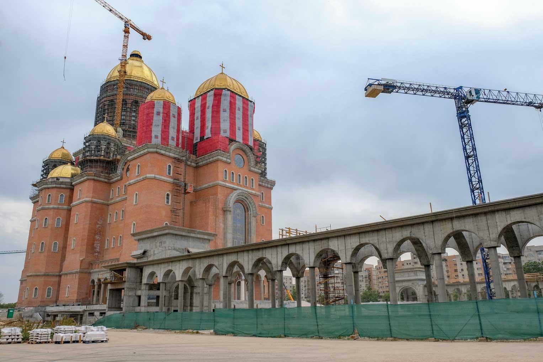 Stadiul lucrărilor pe șantierul Catedralei Mântuirii Neamului