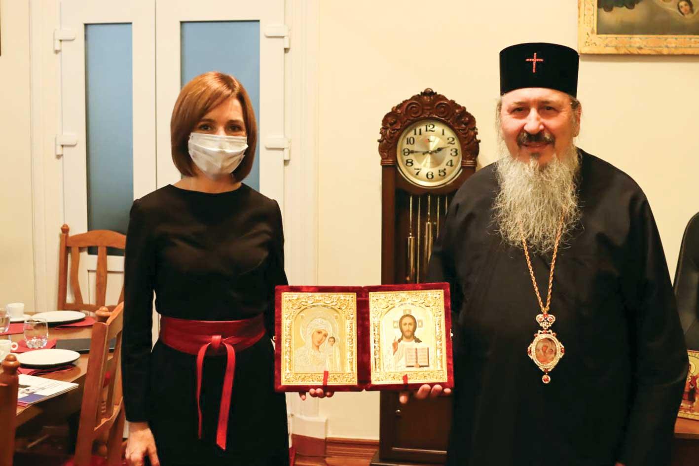 Preşedintele Republicii Moldova în vizită la Mitropolitul Basarabiei