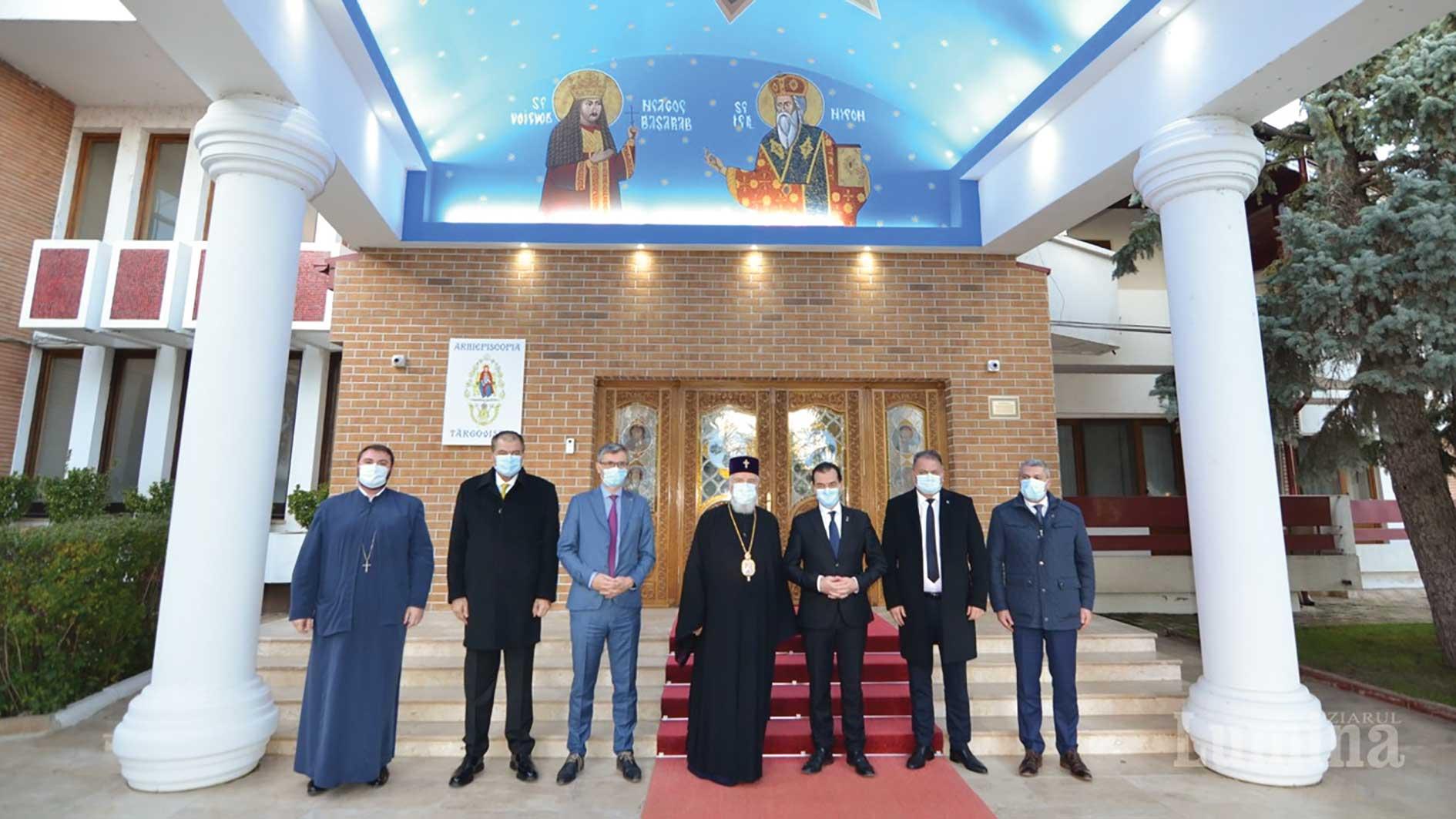 Reprezentanți ai Guvernului României la Centrul eparhial din Târgoviște